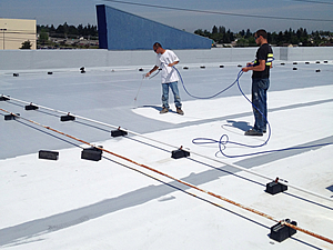 Roofing Tacoma Amp Applying Elastomeric Coating Over